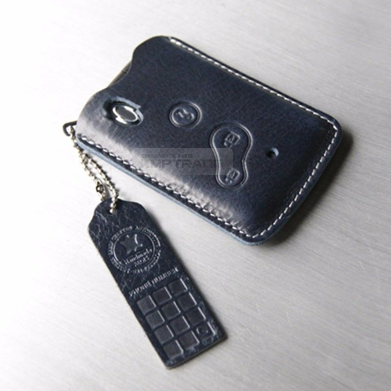 3button card key leather case cover holder pouch strap. Black Bedroom Furniture Sets. Home Design Ideas