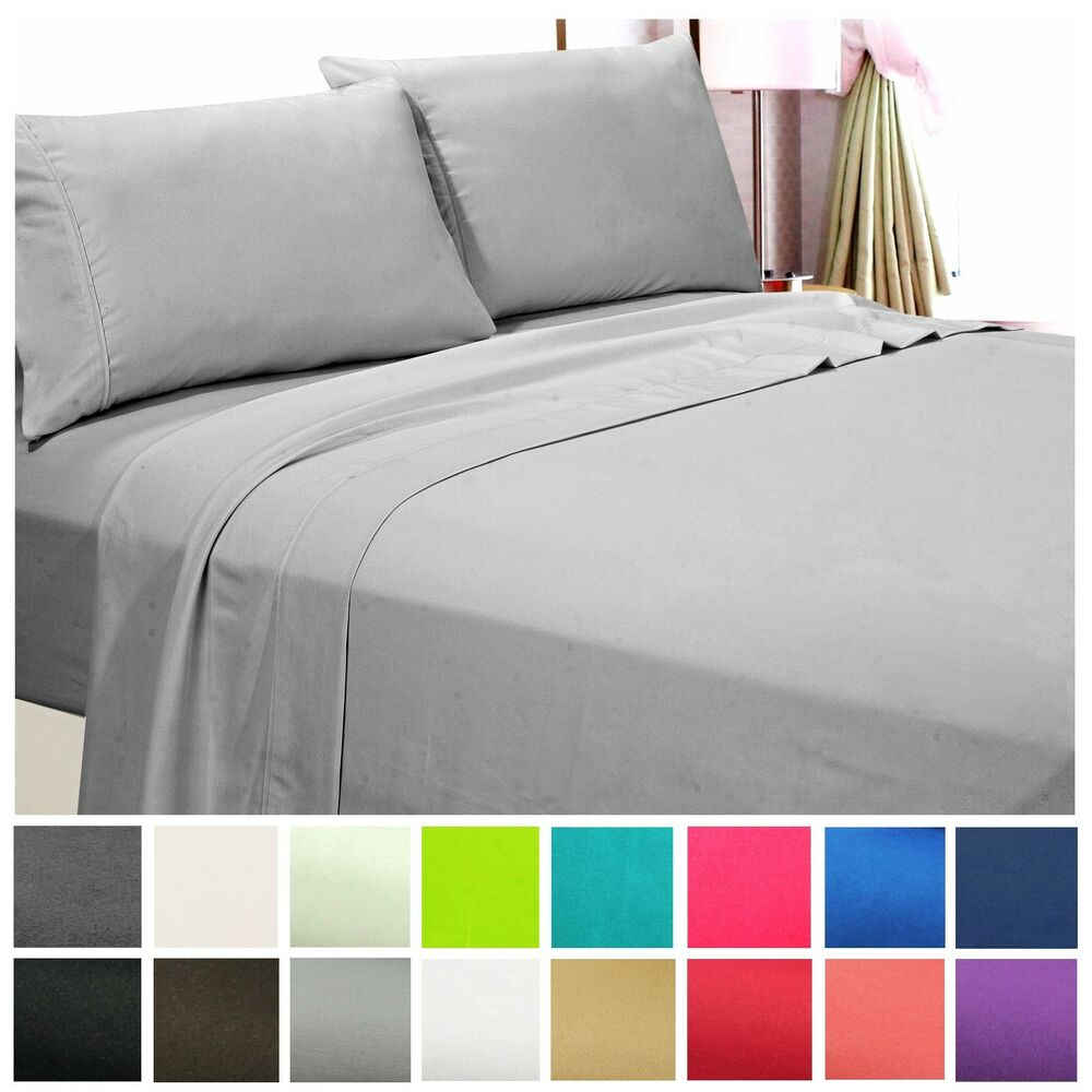 1800 Count Hotel Quality Deep Pocket 4 Piece Bed Sheet Set