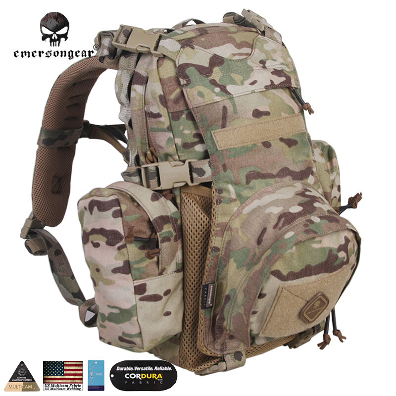 b4cebf2ee7a EMERSON Hydration Backpack Tactical Daypack Hiking Rucksack Airsoft Camo  Duty   eBay