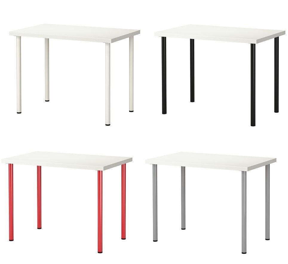 ikea linnmon adils desk dining table home office stable. Black Bedroom Furniture Sets. Home Design Ideas