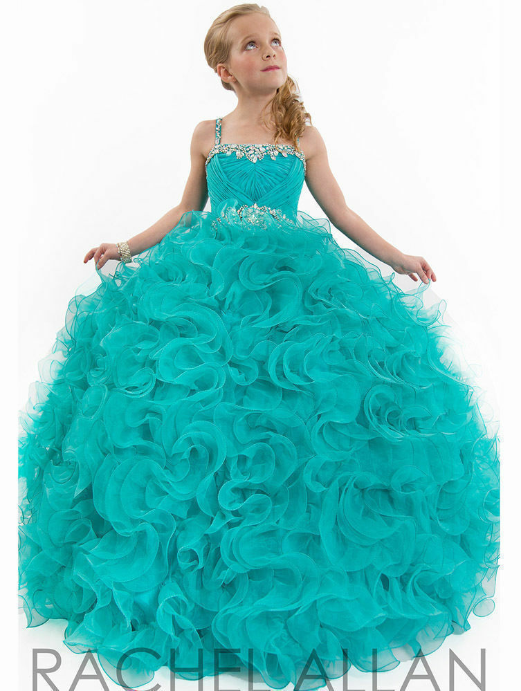 New Girl Kids Pageant Prom Party Princess Ball Gown Formal