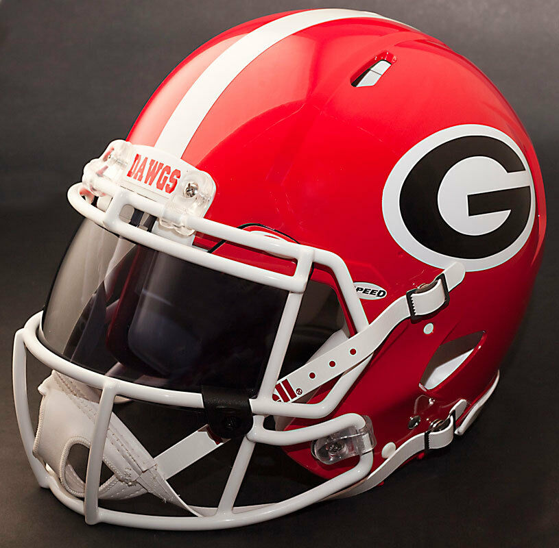 BULLDOGS NCAA Size *CUSTOM* SPEED  GEORGIA Full Riddell