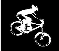 "Mountain Bike Silhouette Decal 6"" MTB Cycling Sticker"