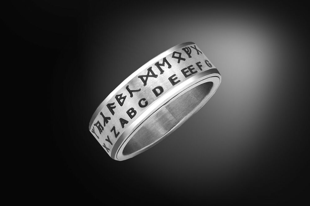 Hobbit Rune Translator Ring  Futhark Rune Spinner Ring. Wood Wedding Rings. Ucla Rings. Gia Wedding Rings. Gender Neutral Wedding Rings. World Wide Dream Builders Wedding Rings. Claddagh Irish Wedding Rings. Maplestory Wedding Rings. Pansy Rings