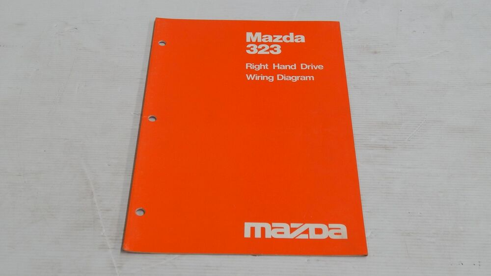 Mazda 323 Right Hand Drive Rhd Wiring Diagram Manual Book