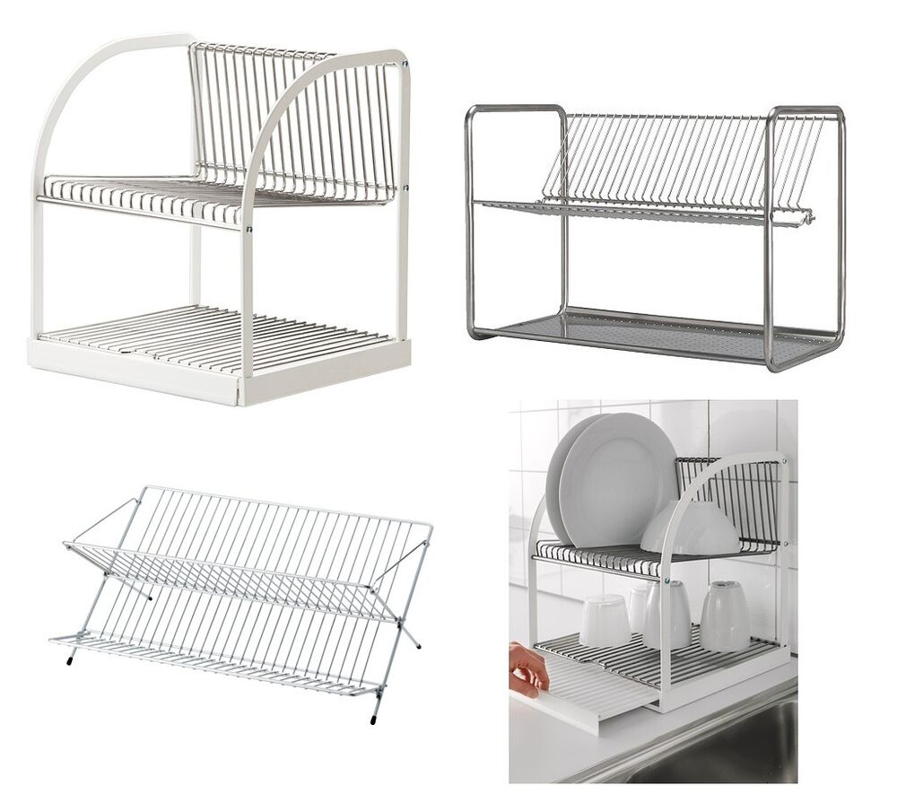 Ikea Dish Drainer Rack Cutlery Plates Tray Drying Kitchen