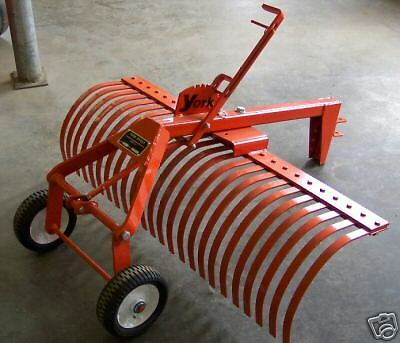 4 Foot Landscape York Rake Model Ta 1 For Garden Tractors
