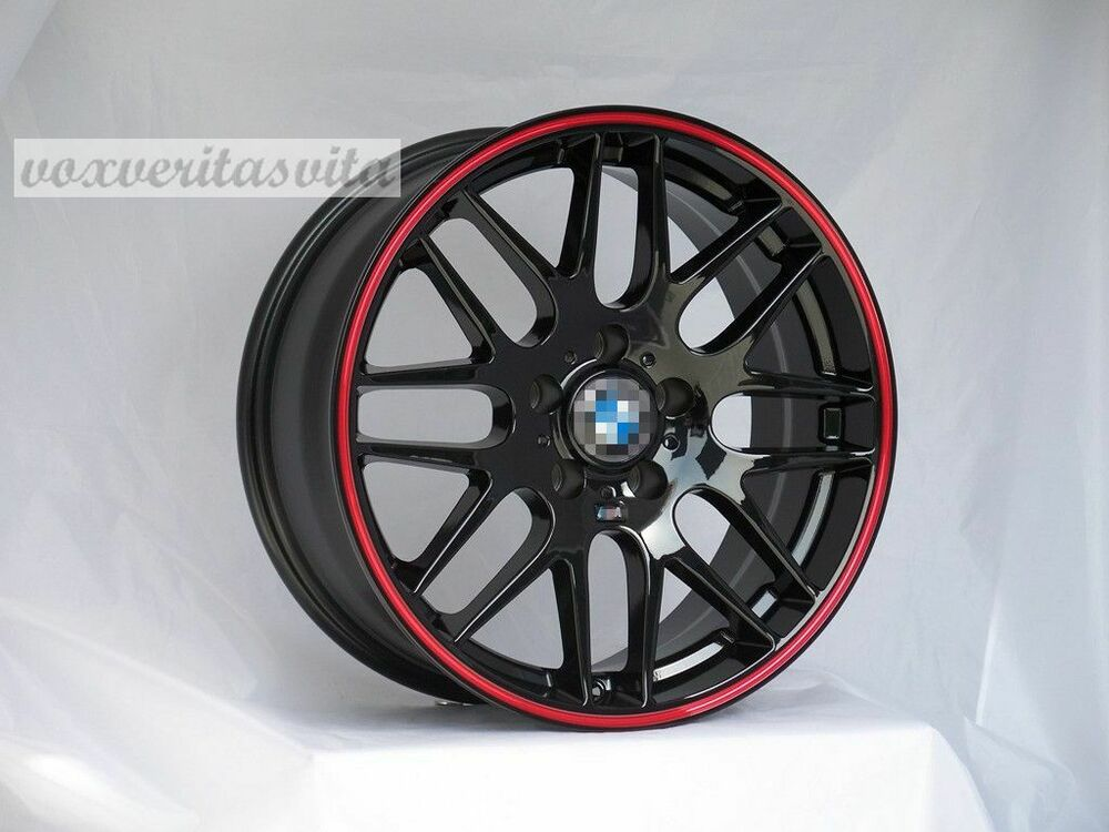 18 Quot Gloss Black Csl Style M3 Wheels Rims Fits Bmw 528i 535i 5 Series Awd Only Ebay