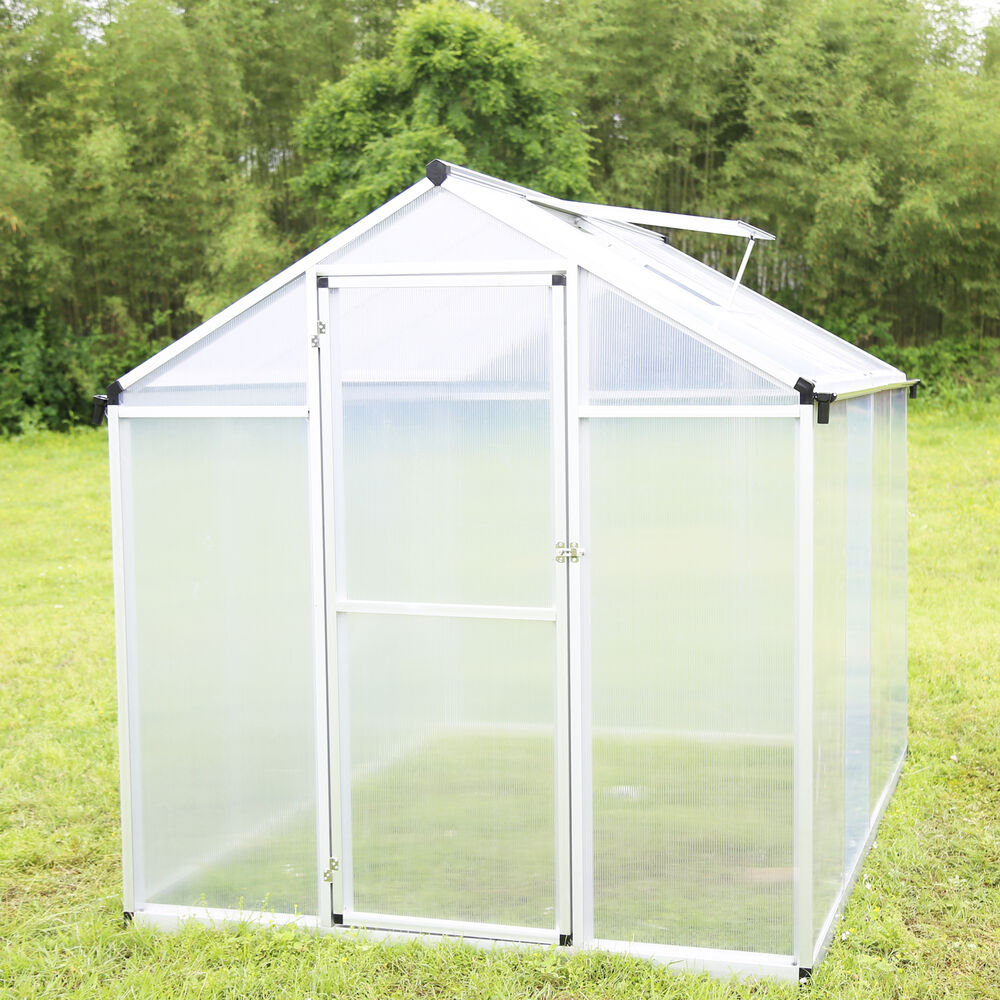 6 X8 Outdoor Greenhouse Heavy Duty Roof Aluminum
