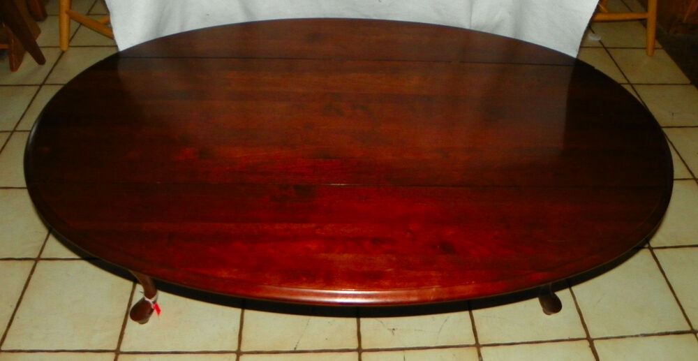 Solid Cherry Dropleaf Coffee Table By Ethan Allen Ct132