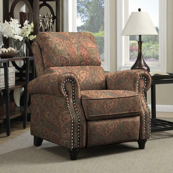 Prolounger Paisley Push Back Recliner Chair Living Room Seat Furniture Home Ebay