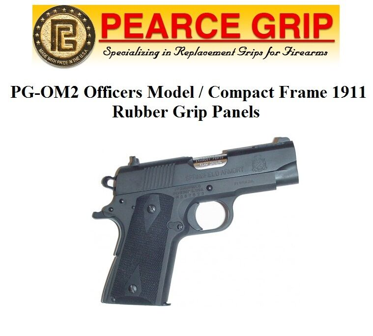 Pearce Grip PGOM2 PG-OM2 for 1911 Officers Compact Frame Rubber ...