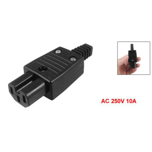 New black iec c female outlet socket power adapter