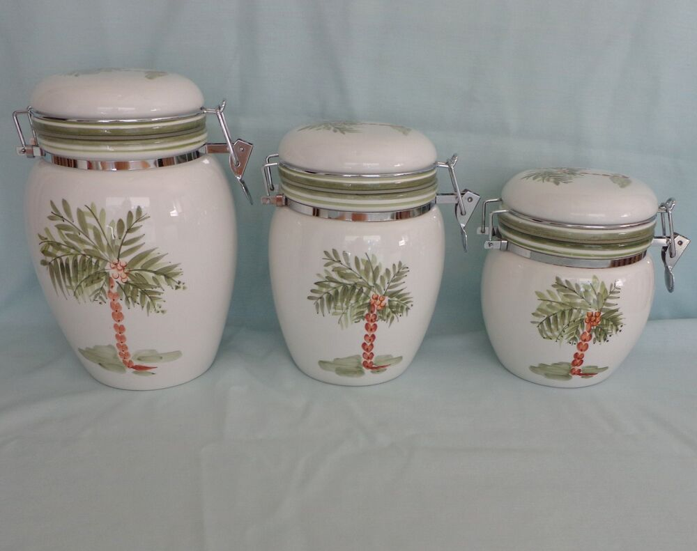 Palm Tree Kitchen Canister Set