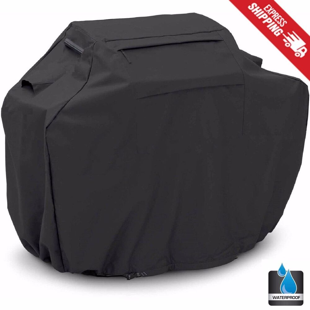 Bbq Gas Grill Cover Black 68 Quot Barbecue Heavy Duty