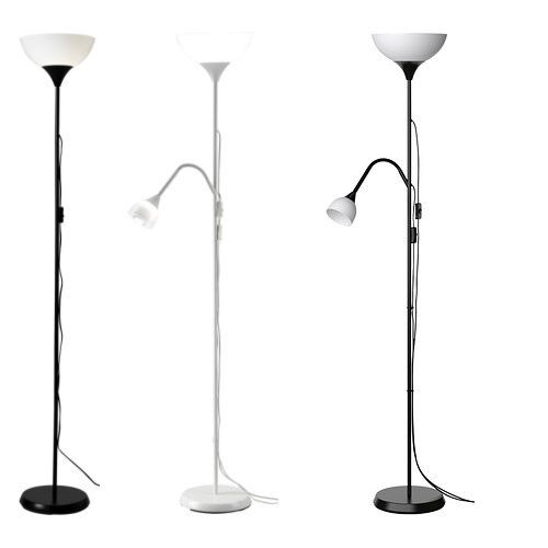 Ikea not tall floor standing lamp black white reading for Ikea stand up pupitres
