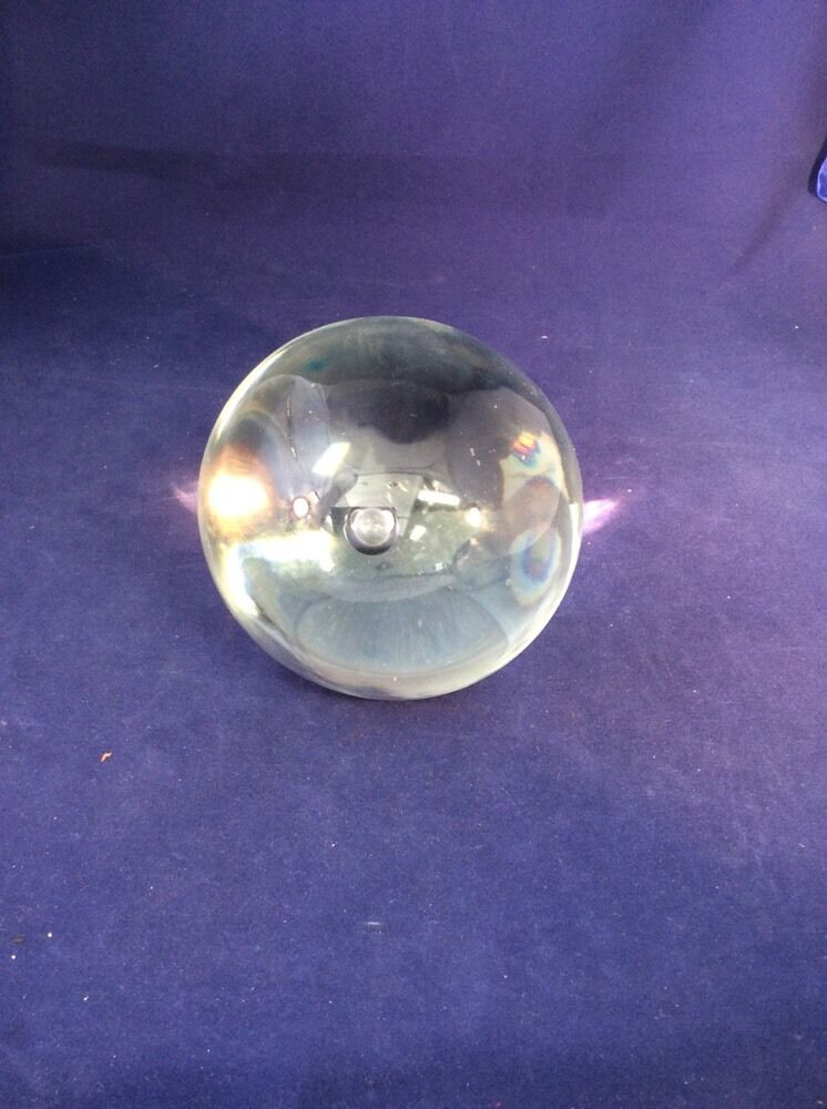 Vintage solid glass crystal gazing ball psychic divination