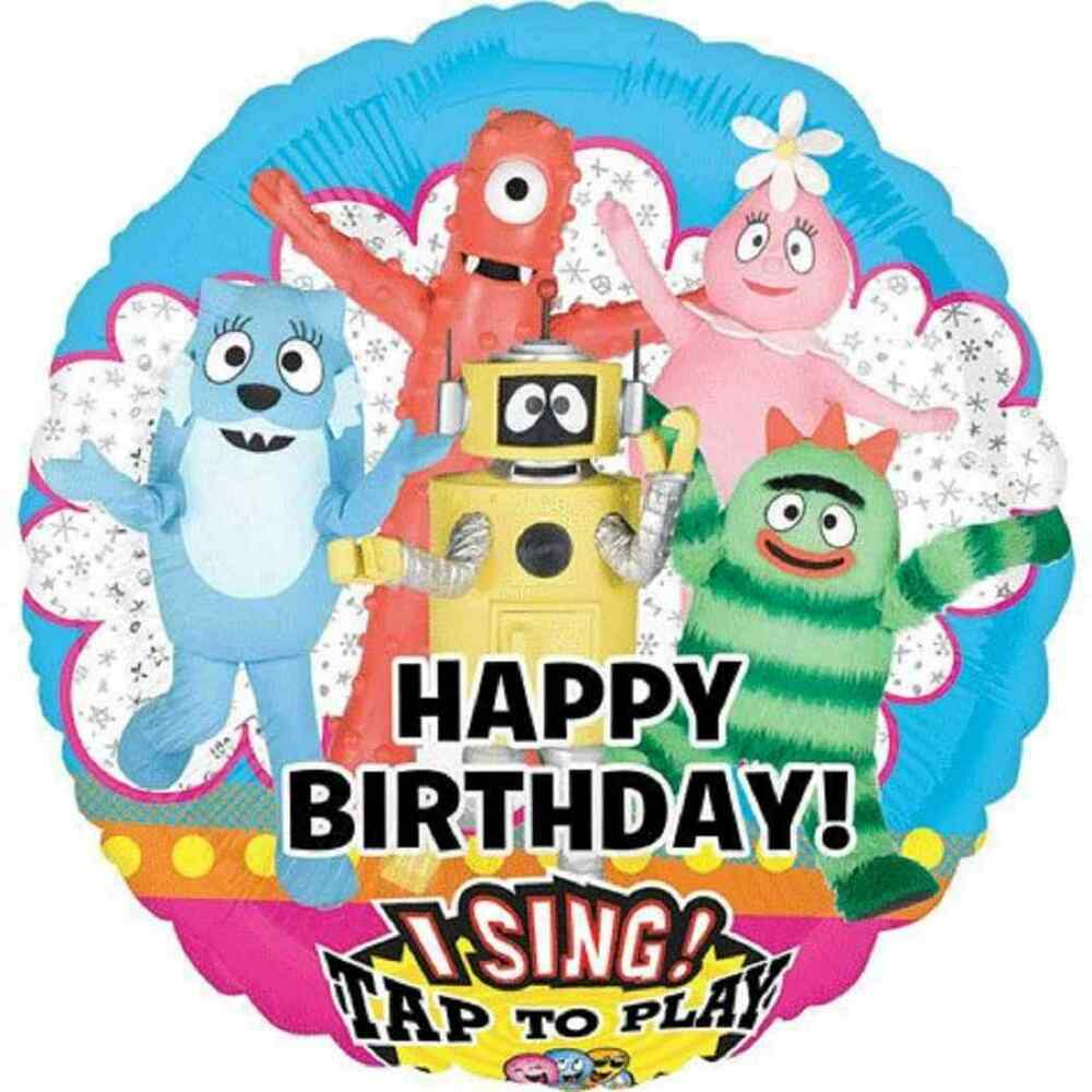 Yo Gabba Gabba Nick Jr Cartoon Birthday Party Decoration Singing