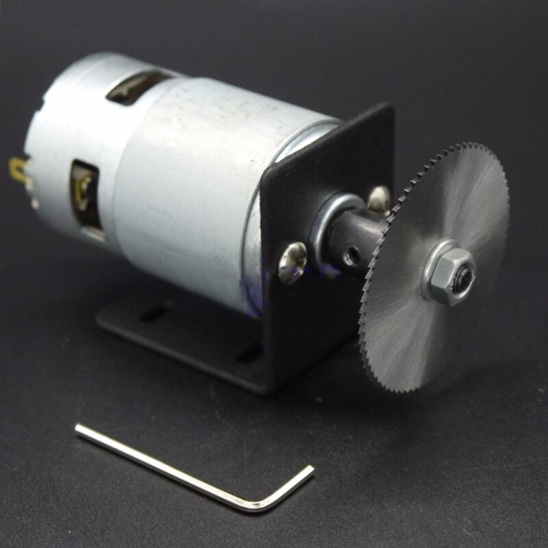 24v Dc Motor With 50mm Saw Blade Diy Accessories For Mini