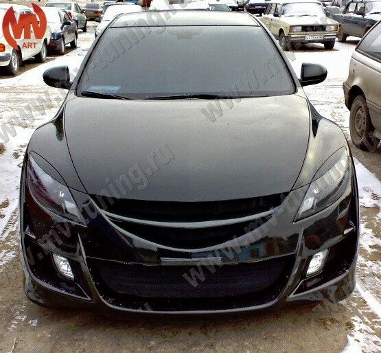 front eyelids headlights covers mazda 6 gh atenza 2008 2009 2010 2011 2012 ebay. Black Bedroom Furniture Sets. Home Design Ideas