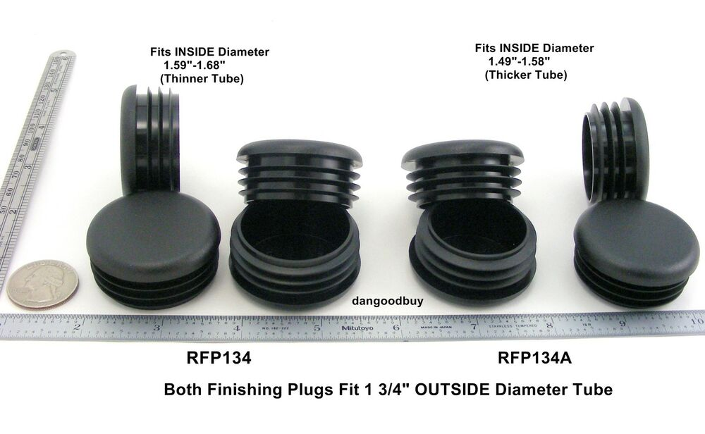 Round finishing plugs for quot diameter tubing black