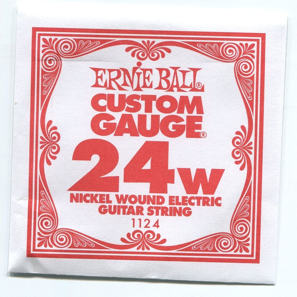 ernie ball custom gauge 24w nickel wound single guitar string super slinky ebay. Black Bedroom Furniture Sets. Home Design Ideas