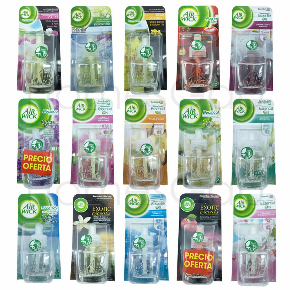 6 x air wick airwick electric plug in refills scented oils for Airwick plug in scents