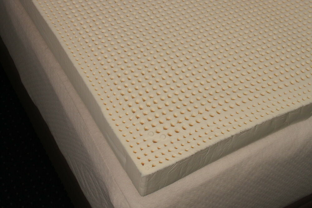 Dunlop Latex Mattress Topper ... Latex Topper, Guaranteed 100% NATURAL Latex Mattress Topper | eBay