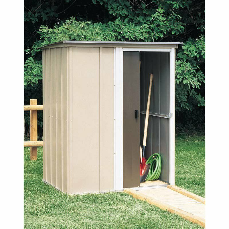 Outdoor storage shed steel utility tool backyard garden for Outdoor tool shed