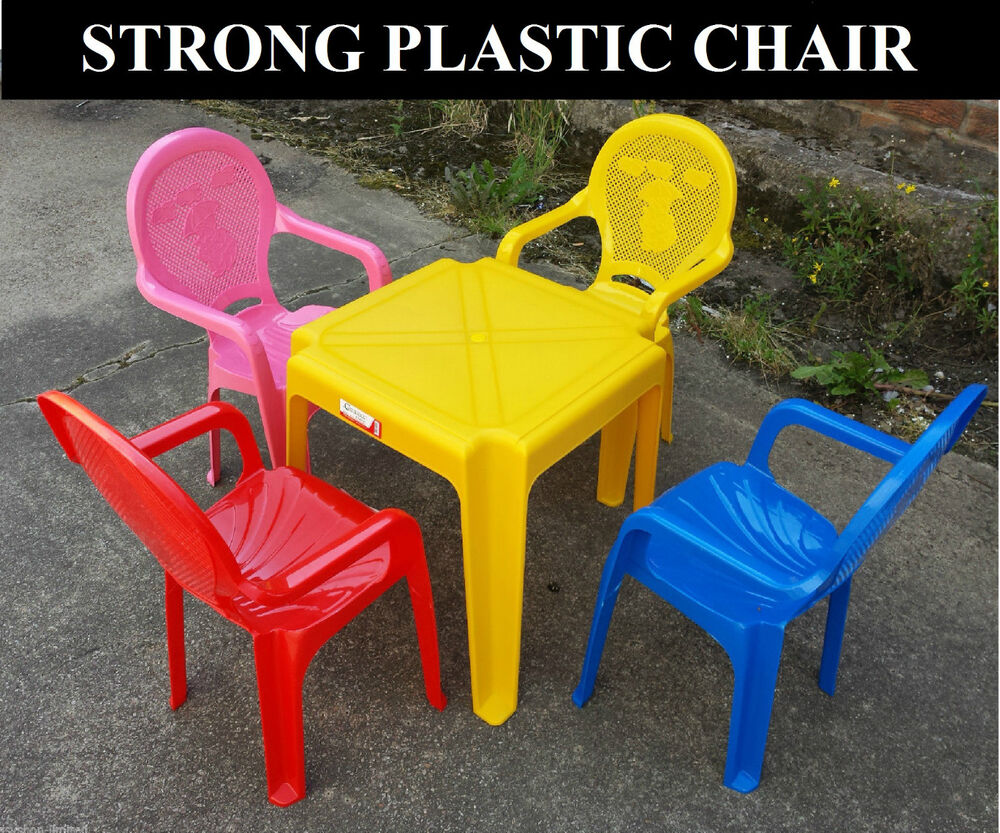 Kids Set Of Childrens Plastic Table And Chairs Nursery Sets Outdoor New Ebay