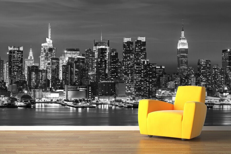 Wallpaper rolls new york landscape embossed mural sofa for New york wallpaper rolls