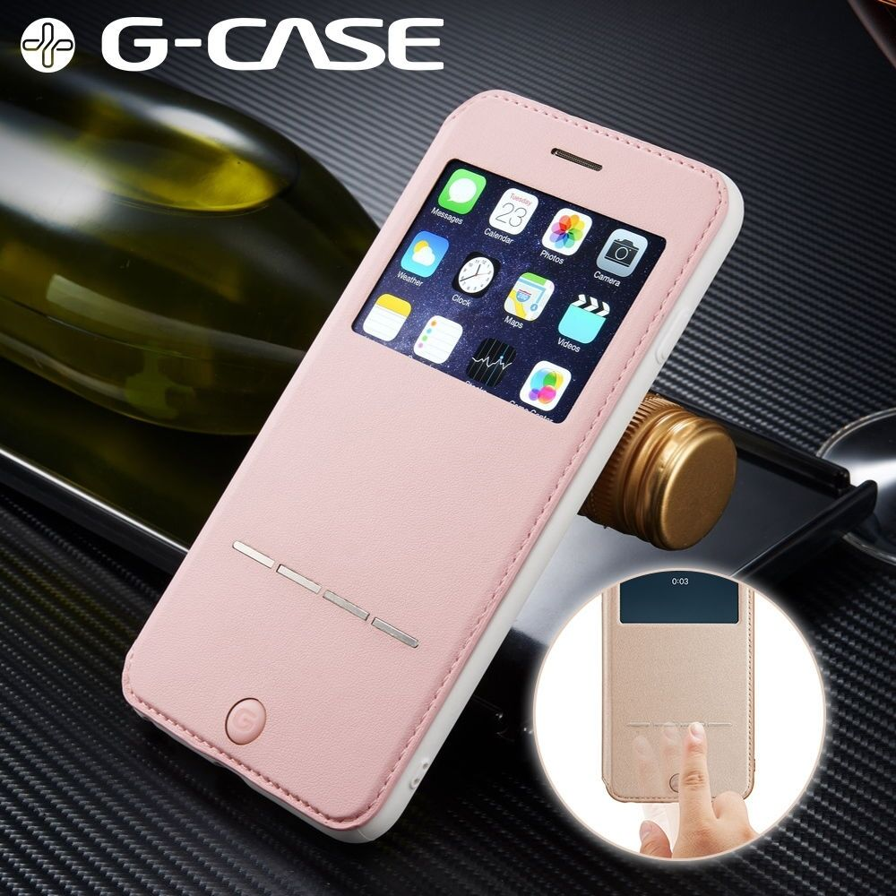 For Apple Iphone 7 6 6s Plus Flip Pu Leather Cover Window