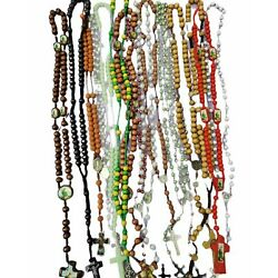 Kyпить Closeout -12pc Mix Lot wholesale Religious full Rosary Crucifix Cross Necklace  на еВаy.соm