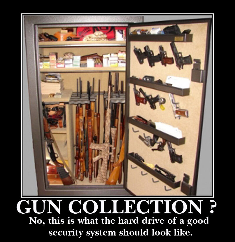Man Cave Guns For Sale : Guns ammo collection humor security gun cabinet man cave