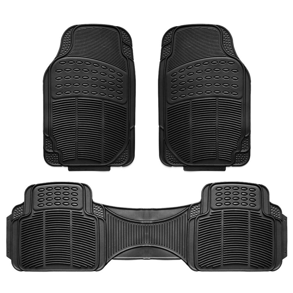 3pc Car Floor Mat Universal Set Carpet Mats Rugs Truck SUV