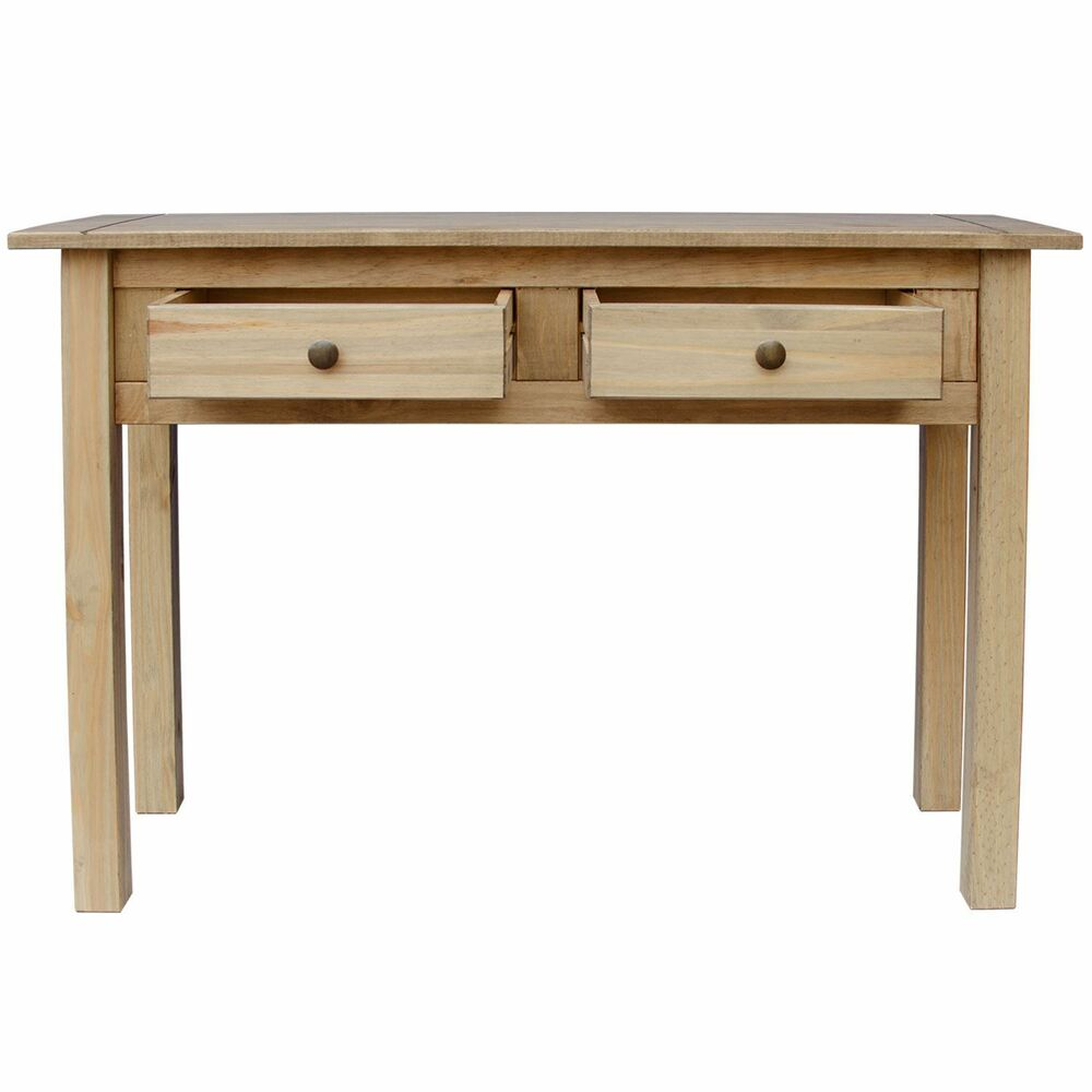 Panama console table 2 drawer solid waxed pine rustic dressing writing unit ebay - Pine sofa table with drawers ...