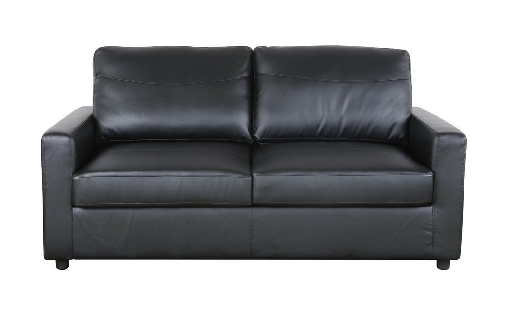Black Bonded Leather Sleeper / Pull Out Sofa and Bed | eBay