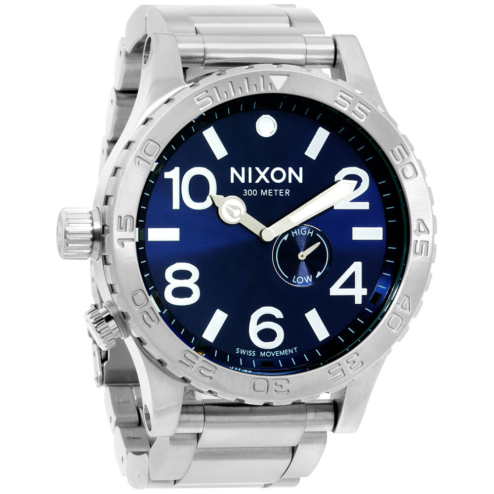 Nixon Steele Tops: Nixon 51-30 Tide A0571258 Blue Dial Men's Stainless Steel
