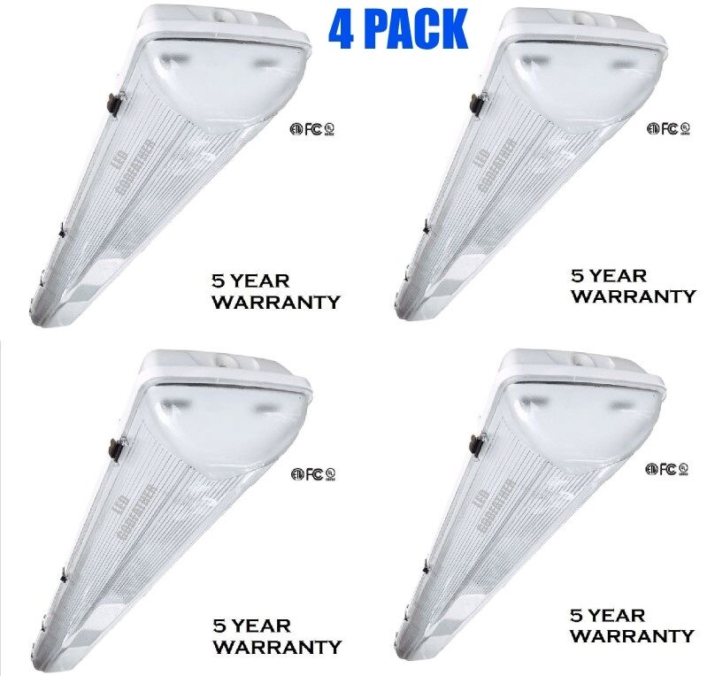 LED Utility Shop Light 4' Ft 44-Watts Instant-On 5,500
