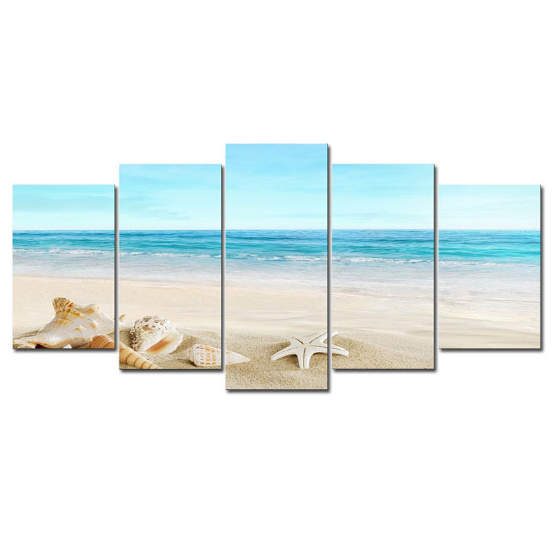 Modern canvas print picture photo seascape beach landscape for Modern home decor photo gallery