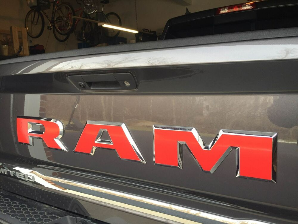 2017 Dodge 1500 >> FITS Dodge Ram 1500 LIMITED Rear Tailgate Emblem Overlay Decals CHECK IT 16 17 | eBay