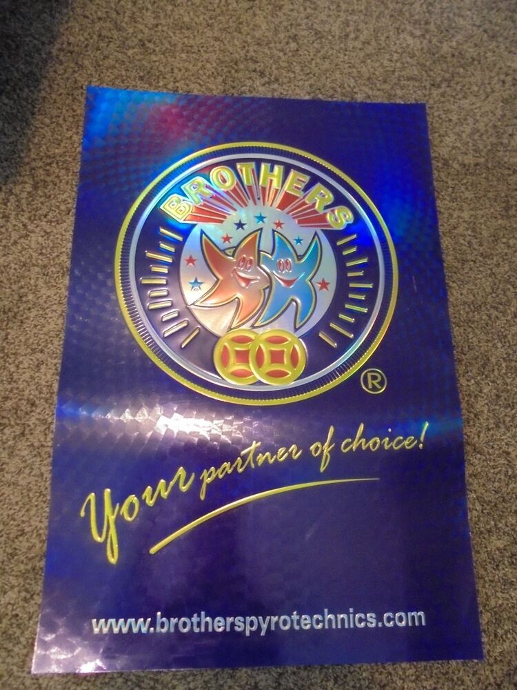 Brothers Pyrotechnics, 20th Anniversary Fireworks Poster (Set of 6) | eBay