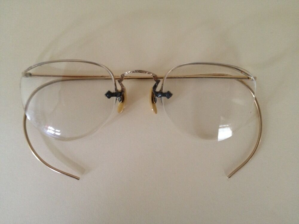 Eyeglass Frames Lincoln Ne : Vintage AO American Optical 12K GF Gold Filled Half Rim ...