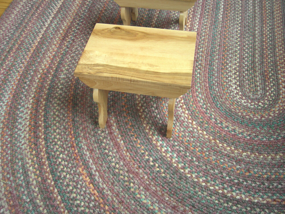 Ohio Amish Handcrafted Figured Hickory Step Stool Small