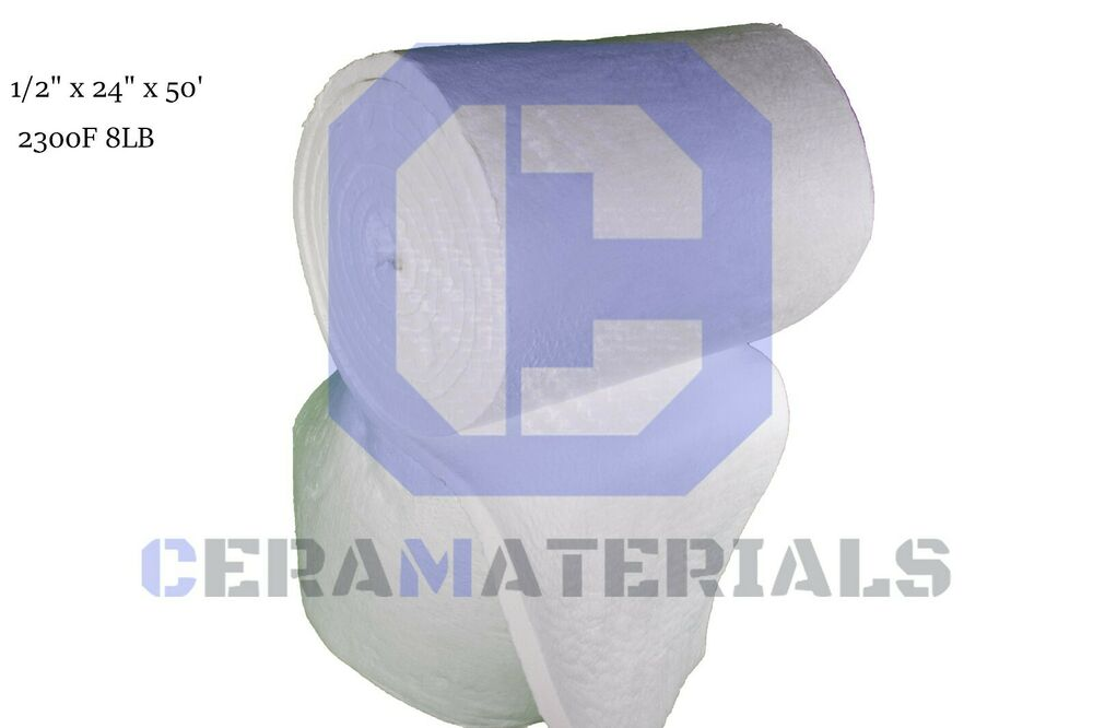 Ceramic fiber blanket insulation 2300f 8 1 2 x 24 x 50 for Glass fiber blanket insulation