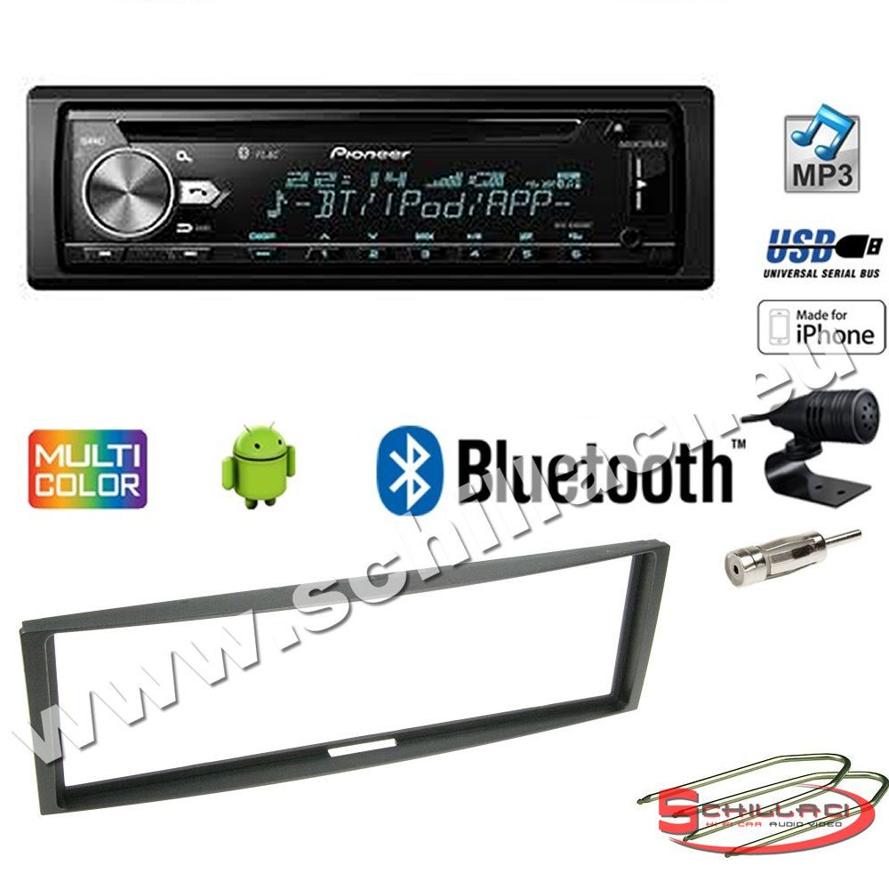 pioneer deh x5900bt autoradio cd usb kit montaggio per renault clio 2 modus ebay. Black Bedroom Furniture Sets. Home Design Ideas