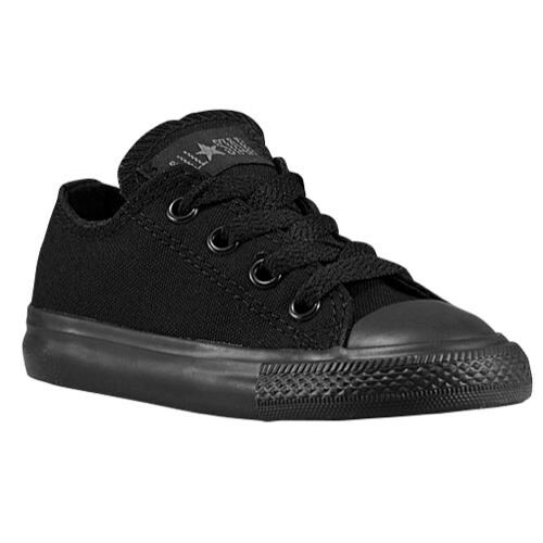 Converse All Star Ox Black Mono Infant Toddler Boys Girls