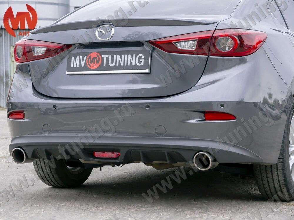 Rear Diffuser Amp Exhaust Bends For Mazda 3 Axela 3rd