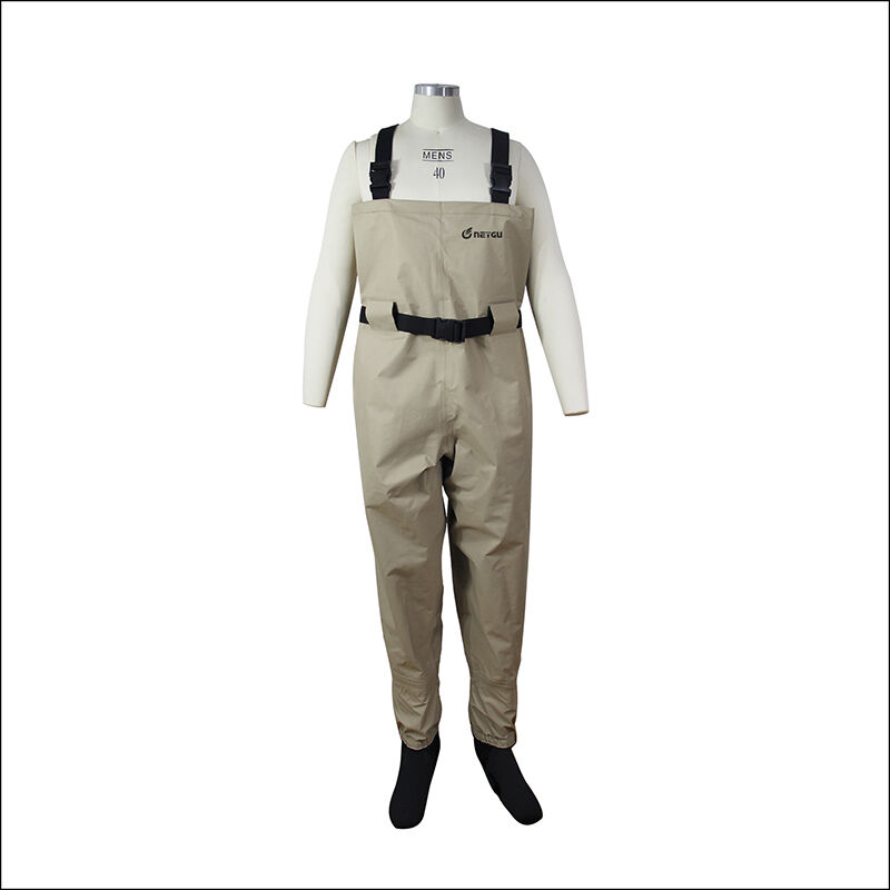Breathable fishing waders for men stocking foot chest for Chest waders for fishing