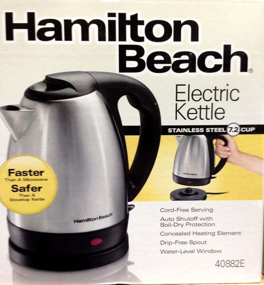 hamilton beach stainless steel 7 2 cup electric tea kettle. Black Bedroom Furniture Sets. Home Design Ideas